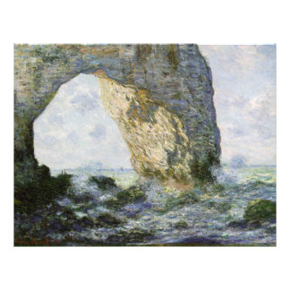 The Manneporte by Claude Monet Flyer