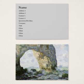 The Manneporte ~ Claude Monet Business Card