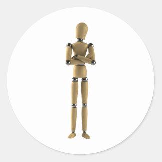 The Mannequin Man Classic Round Sticker