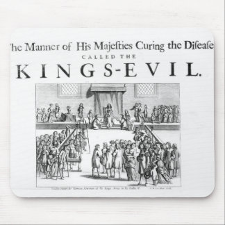 The Manner of his Majesty Curing the Disease Mouse Pad