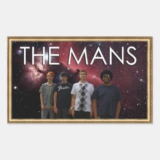 The Mans in Space! Sticker, Framed Rectangular Sticker