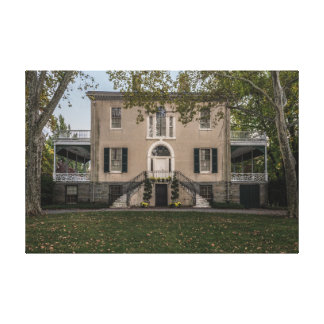 The Mansion in Fairmount Park Canvas Print