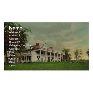 The Mansion, Mount Vernon rare Photochrom Double-Sided Standard Business Cards (Pack Of 100)