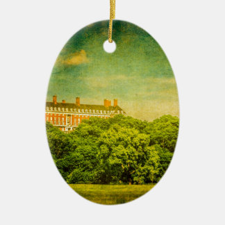 The Mansion on the Hill Ceramic Oval Decoration