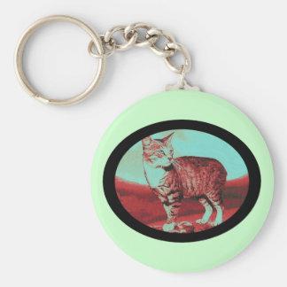 the Manx Cat Basic Round Button Keychain
