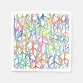The Many Colors of Peace Signs Paper Napkin