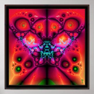 """The Many Eyes of Izzaac V 4 (12"""" x 12"""")  Art Print"""