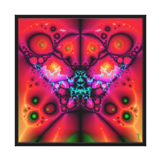 The Many Eyes of Izzaac V 4  Wrapped Canvas Print