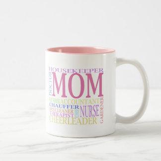 The Many Faces of Mom Mug