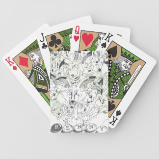 The many faces of Renny Bicycle Playing Cards