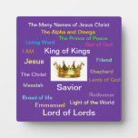The Many Names of Jesus Photo Plaques