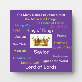 The Many Names of Jesus Plaque