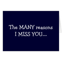 "THE ""MANY"" REASONS I MISS ""YOU"" CARD"