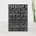 "THE MANY REASONS **WE ARE BEST FRIENDS** BIRTHDAY CARD<br><div class=""desc"">ON HIS OR HER BIRTHDAY,  LET HIM OR HER KNOW THE ""MANY REASONS"" HE OR SHE IS ****YOUR BEST FRIEND***** AND THAT THERE ARE 
