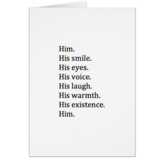 THE MANY THINGS I LOVE ABOUT *HIM* CHRISTMAS LOVE CARD