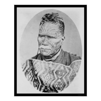 The Maori King of New Zealand 1895 Posters