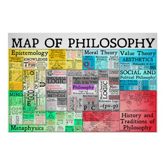The map of philosophy poster zazzle the map of philosophy poster thecheapjerseys Image collections