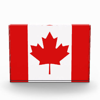 The Maple Leaf flag of Canada Acrylic Award