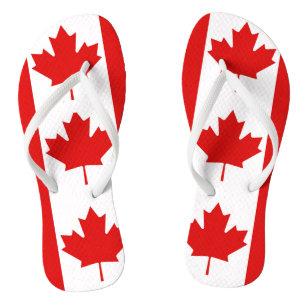 e5b714c95cbb49 The Maple Leaf flag of Canada Flip Flops