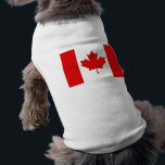 """The Maple Leaf flag of Canada Shirt<br><div class=""""desc"""">The flag of Canada, often referred to as the Canadian flag or unofficially as the Maple Leaf flag and is a national flag consisting of a red field with a white square at its centre in the middle of which is featured a stylised, red, 11-pointed maple leaf . It is...</div>"""