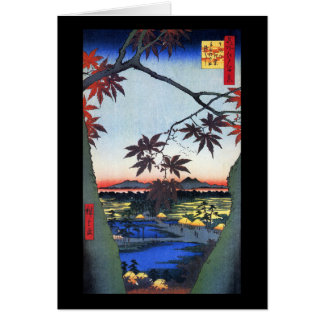 The Maple Trees – Ando Hiroshige Greeting Cards