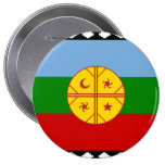 the Mapuches, Chile 4 Inch Round Button