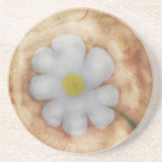 The marbling of art daisy  Coaster