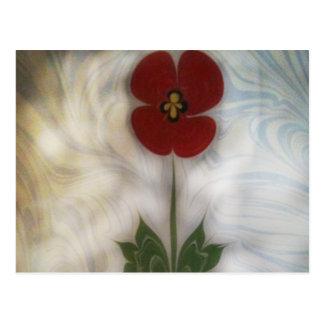 The marbling of art poppy  Postcard