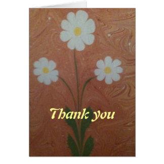 The marbling of art three daisy greeting card