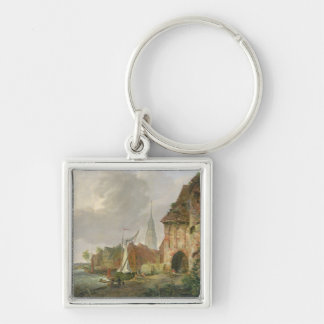 The March Gate in Buxtehude, 1830 Keychain