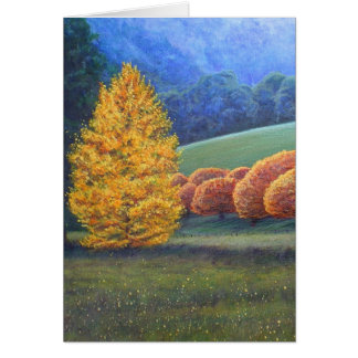 The March of Bright oak trees. Card