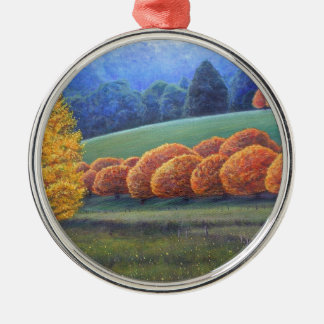 The March of Bright oak trees. Ornament