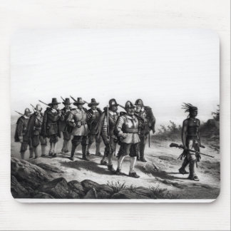 The March of Miles Standish Mouse Pad