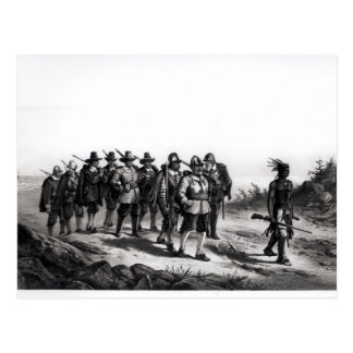 The March of Miles Standish Postcard