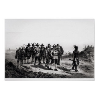 The March of Miles Standish Poster