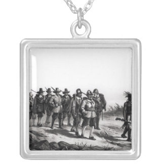 The March of Miles Standish Silver Plated Necklace