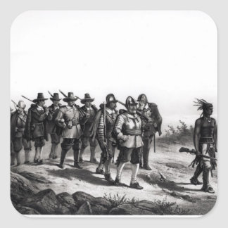 The March of Miles Standish Square Sticker