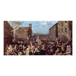 The March Of The Guards To Finchley By Hogarth Photo Cards