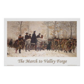 The March to Valley Forge Poster
