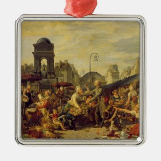 The Marche des Innocents, c.1814 Square Metal Christmas Ornament