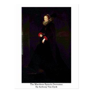 The Marchesa Spinola Geronima By Anthony Van Dyck Postcards