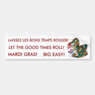 The-Mardi Gras Dragon V-2 Bumper Sticker