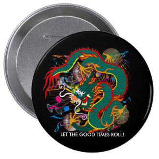 The-Mardi Gras Dragon V-2 Pinback Button