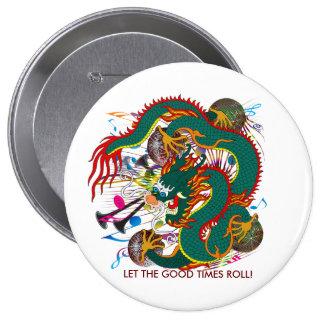 The-Mardi Gras Dragon V-2 Pinback Button