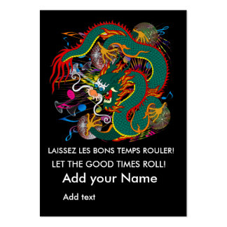 The-Mardi Gras Dragon V-2 Queen back Large Business Cards (Pack Of 100)