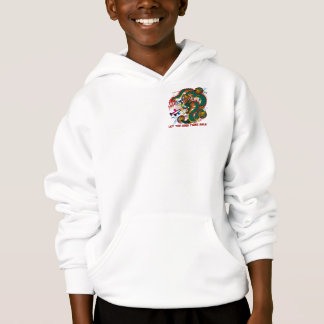 The-Mardi Gras Dragon V-2-T Pocket only Hoodie