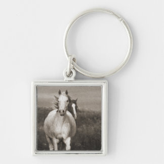 The Mares at Liberty Keychain
