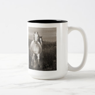 The Mares at Liberty Two-Tone Coffee Mug