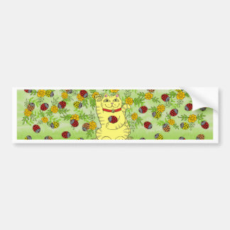 The Marigolds Are Lucky Today! Car Bumper Sticker