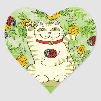The Marigolds Are Lucky Today! Heart Sticker